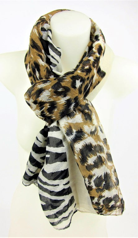 Ladies accessories, Womens fashion scarves, animal print design, wedding scarf, formal scarf