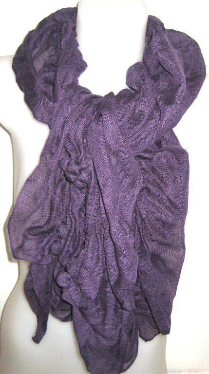 bauble scarf, purple scarf, fashion accessories, ladies wear