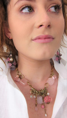 Semi Precious Multi Stone Stylish Necklace