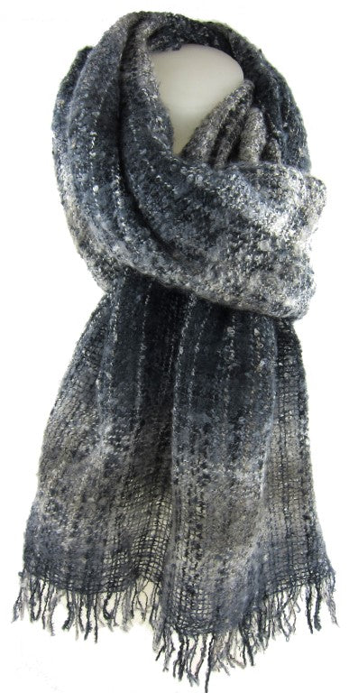 warm ladies scarf, fashion accessories, winter scarf, boucle scarf