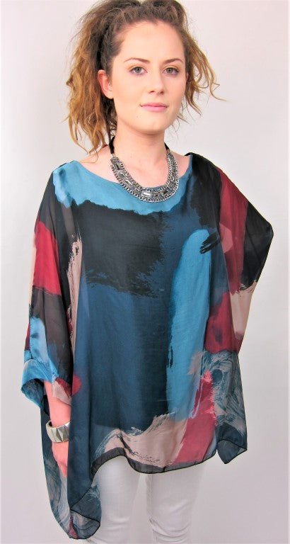 Stylish Italian Fashion Silk Pattern Top