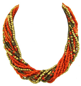 Stylish Multi Strand Beaded Necklace