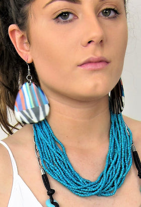 Trendy Multi Strand Fashion Necklace