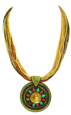 Tribal Cord Necklace With Stunning Pendant