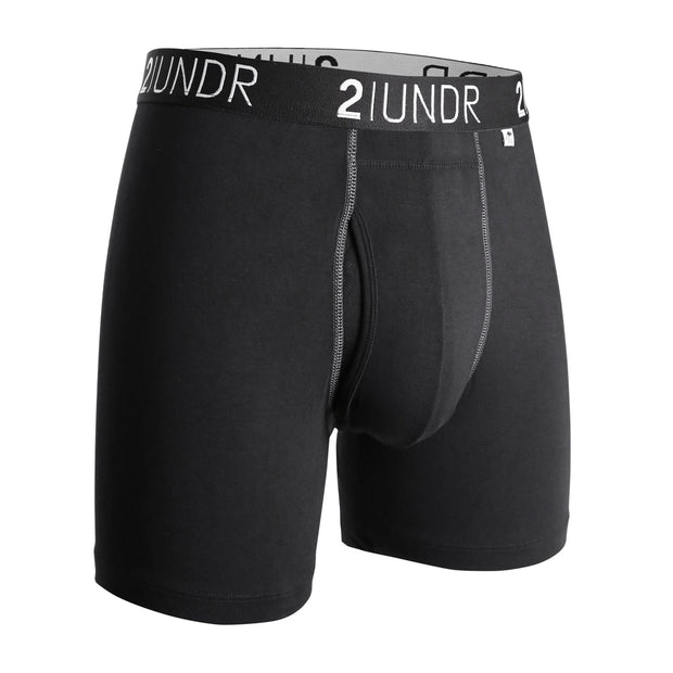 SWING SHIFT BOXER BRIEF BLACK/GREY