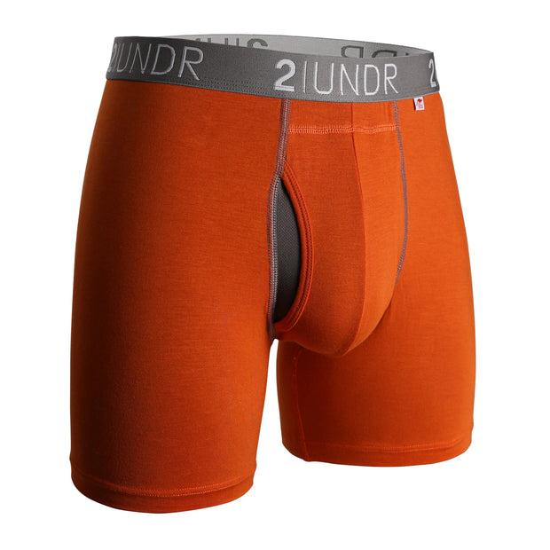 SWING SHIFT BOXER BRIEF ORANGE/GREY
