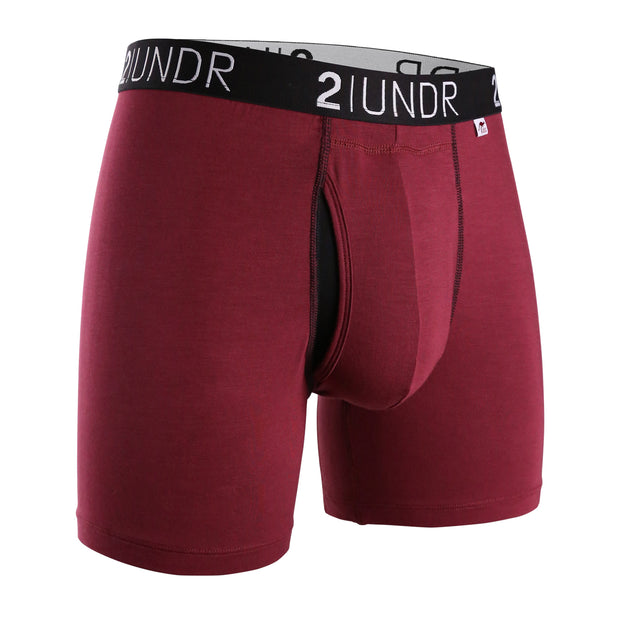 SWING SHIFT BOXER BRIEF BURGUNDY