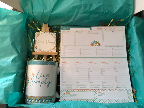 Mug, Easel and Planner Inspirational Desk Set