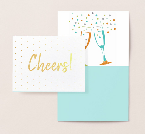 Cheers! Gold Foil Card