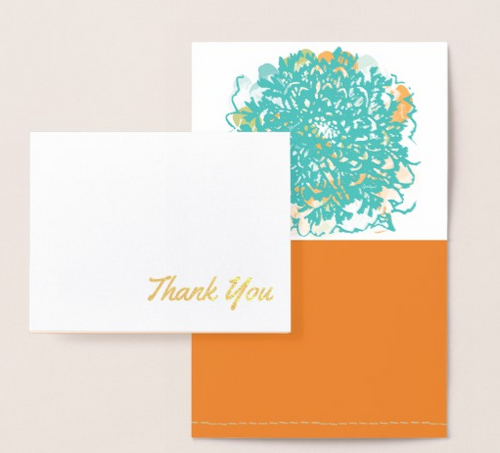 Thank You! Gold Foil Card