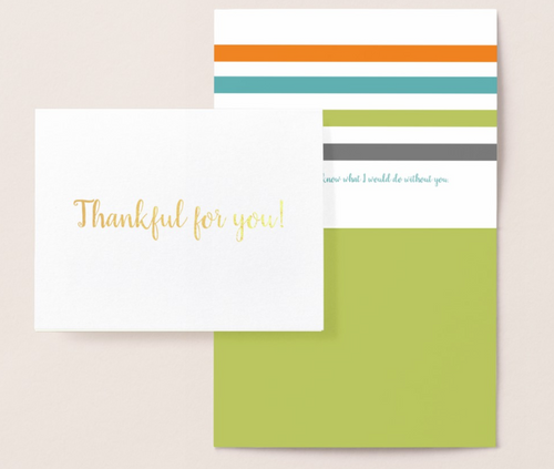 Thankful for You! Gold Foil Card