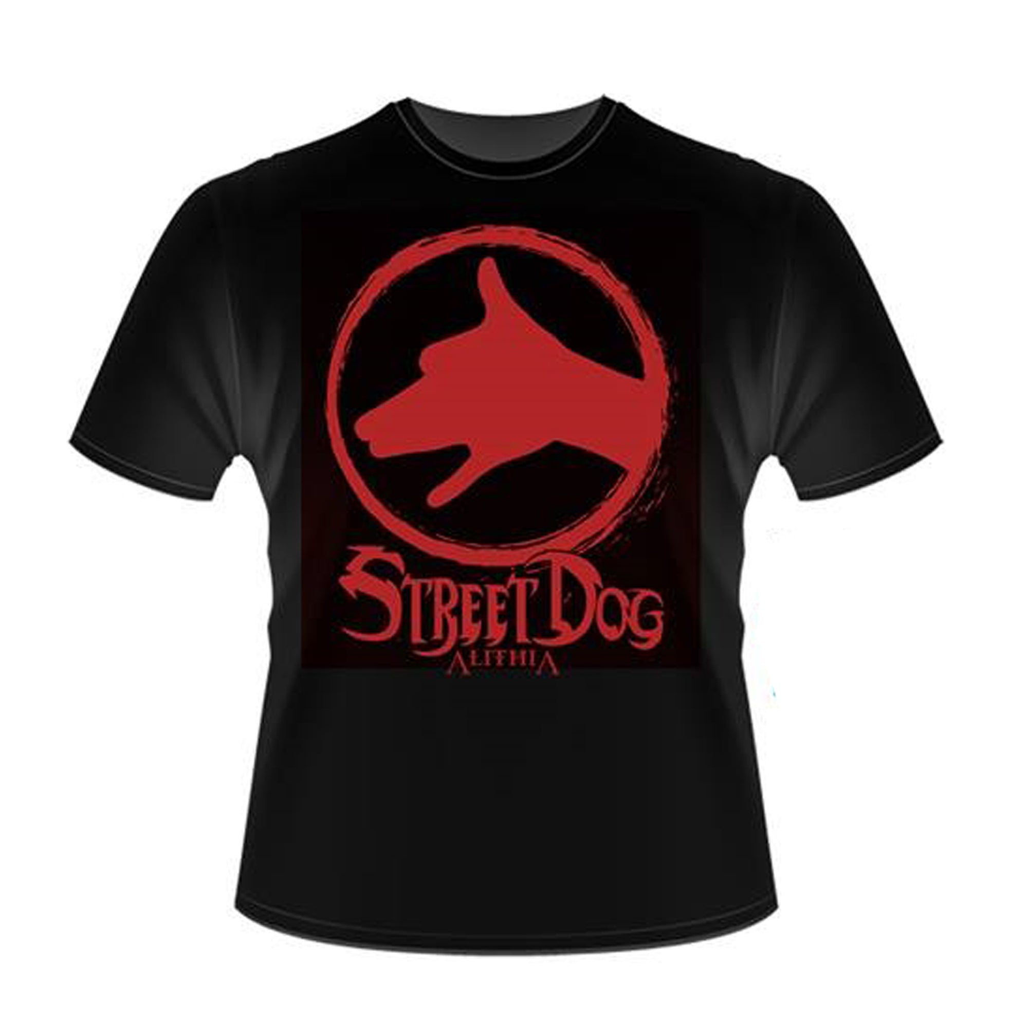 ALITHIA // STREET DOG T-SHIRT - BLACK (WOMEN'S)