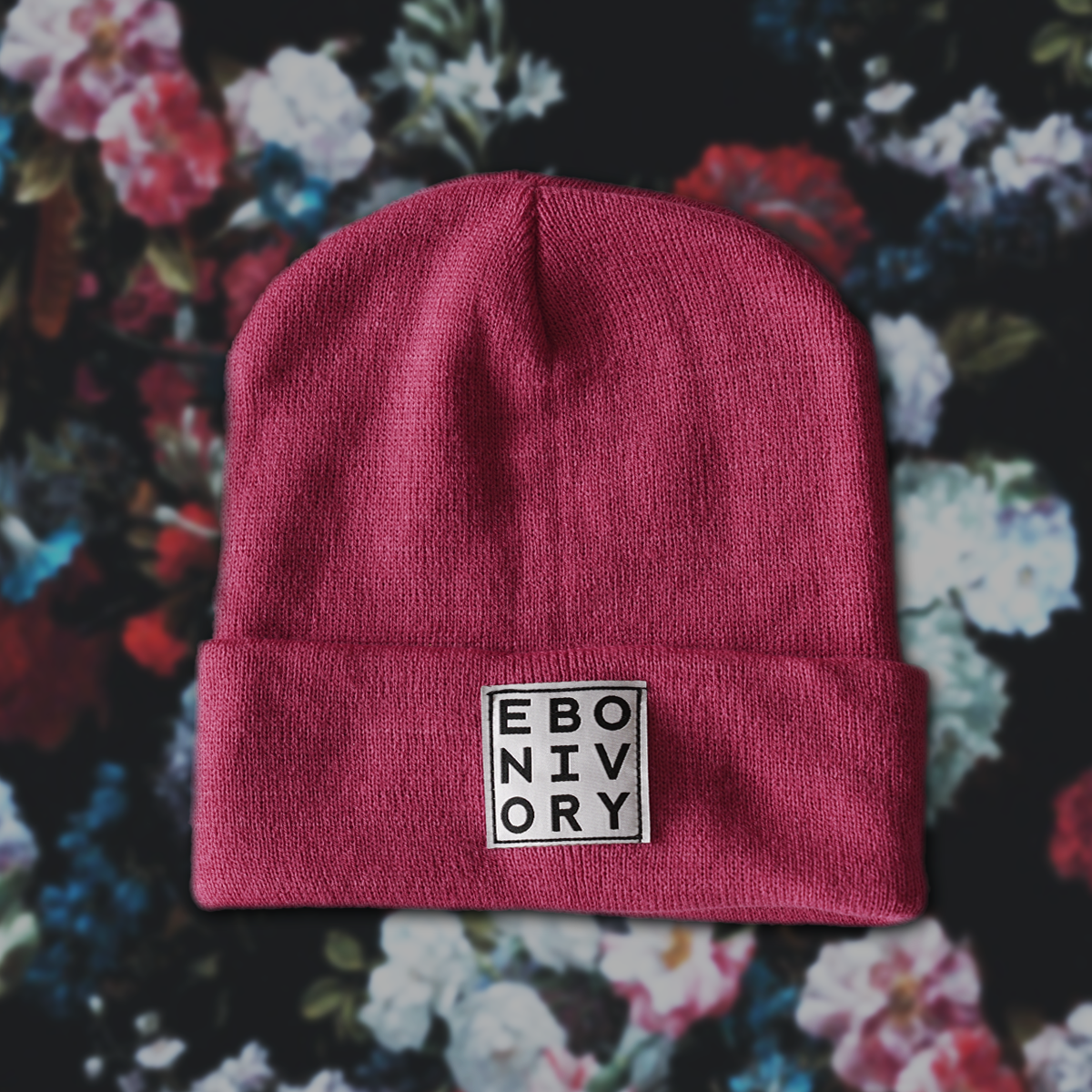 EBONIVORY // SQUARE LOGO BEANIE // PINK - Wild Thing Records