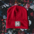 EBONIVORY // SQUARE LOGO BEANIE // RED - Wild Thing Records