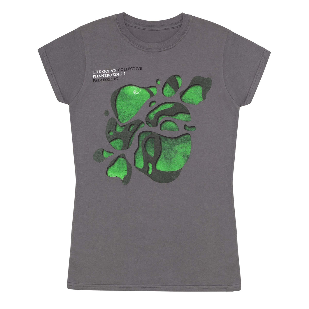 THE OCEAN // PHANEROZOIC I - GREY T-SHIRT (WOMENS) - Wild Thing Records