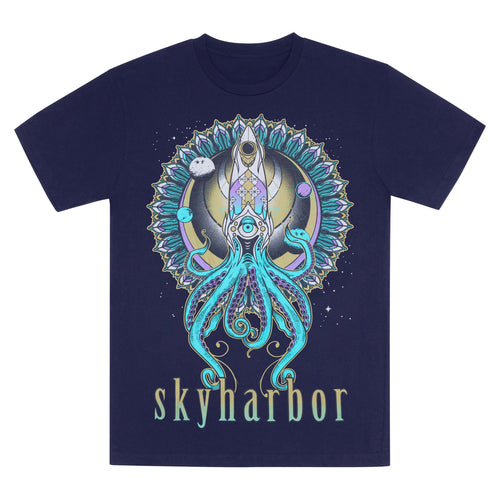 SKYHARBOR // SENSEI SQUID NAVY T-SHIRT