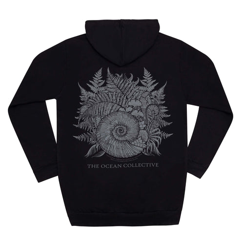 THE OCEAN // AMMONITE BLACK HOODIE