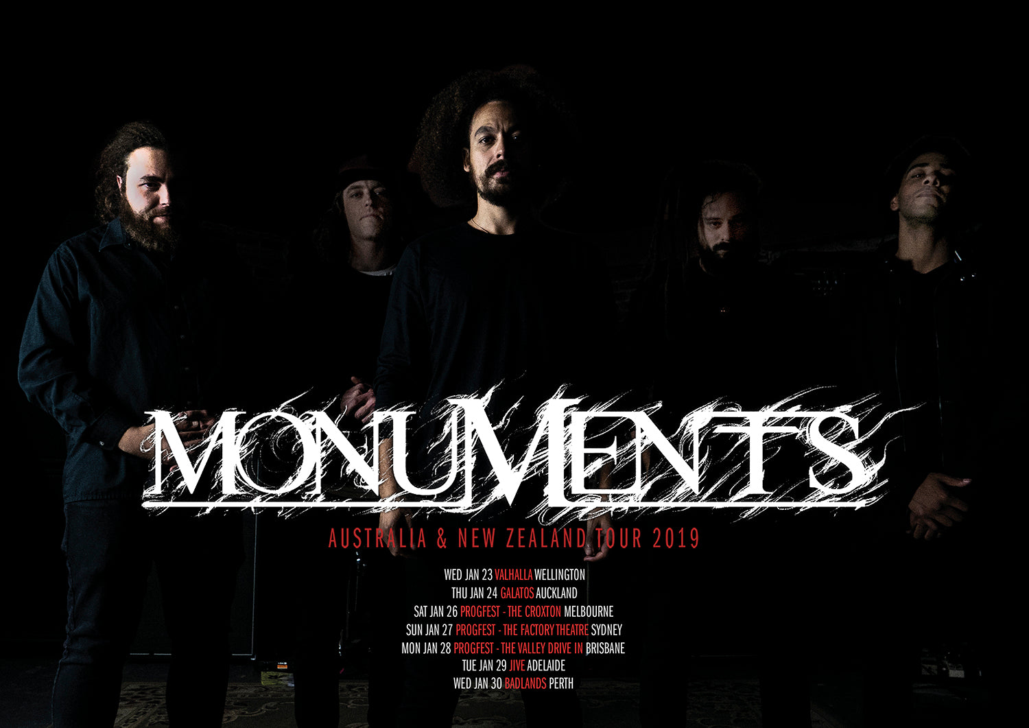 MONUMENTS // PHRONESIS TOUR LTD EDITION POSTER - Wild Thing Records