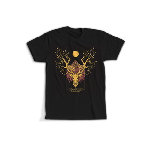 CALIGULA'S HORSE // OCHRE RISE RADIANT DEER BLACK T-SHIRT - Wild Thing Records