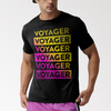 VOYAGER // YELLOW & PINK LOGO - T-SHIRT - Wild Thing Records