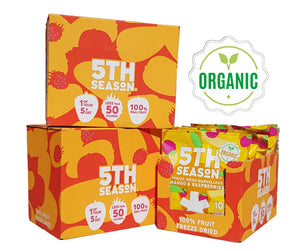 18 packs (3 cases) of Organic Marvelous Mango & Raspberries