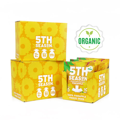 18 packs (3 cases) of Organic Heavenly Pineapple