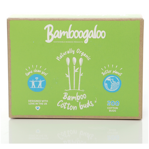 Organic Bamboo Cotton Buds - 100% Biodegradable - VALUE Box of 1000 Buds