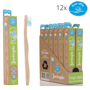 Eco Bundle 2 – Kids 12 Pack – Bamboo Toothbrushes with Ocean Edition Wave Bristles