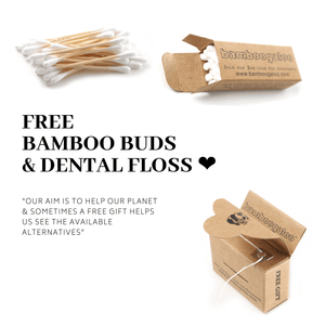 Eco Bundle 5 – Kids 24 Items – Kids Bamboo Toothbrushes (Ocean Edition), Bamboo Cotton Buds, Biodegradable Dental Floss