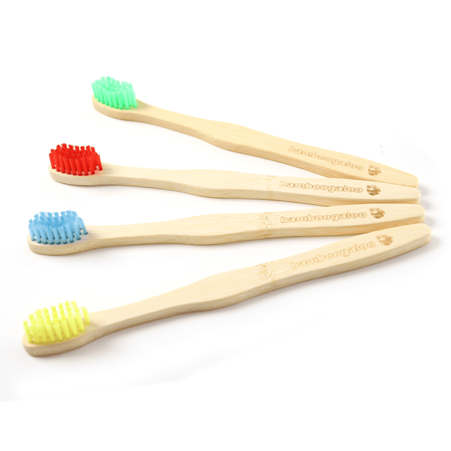 Kids Bamboo Toothbrush with Earth Green Bristles - Bamboogaloo