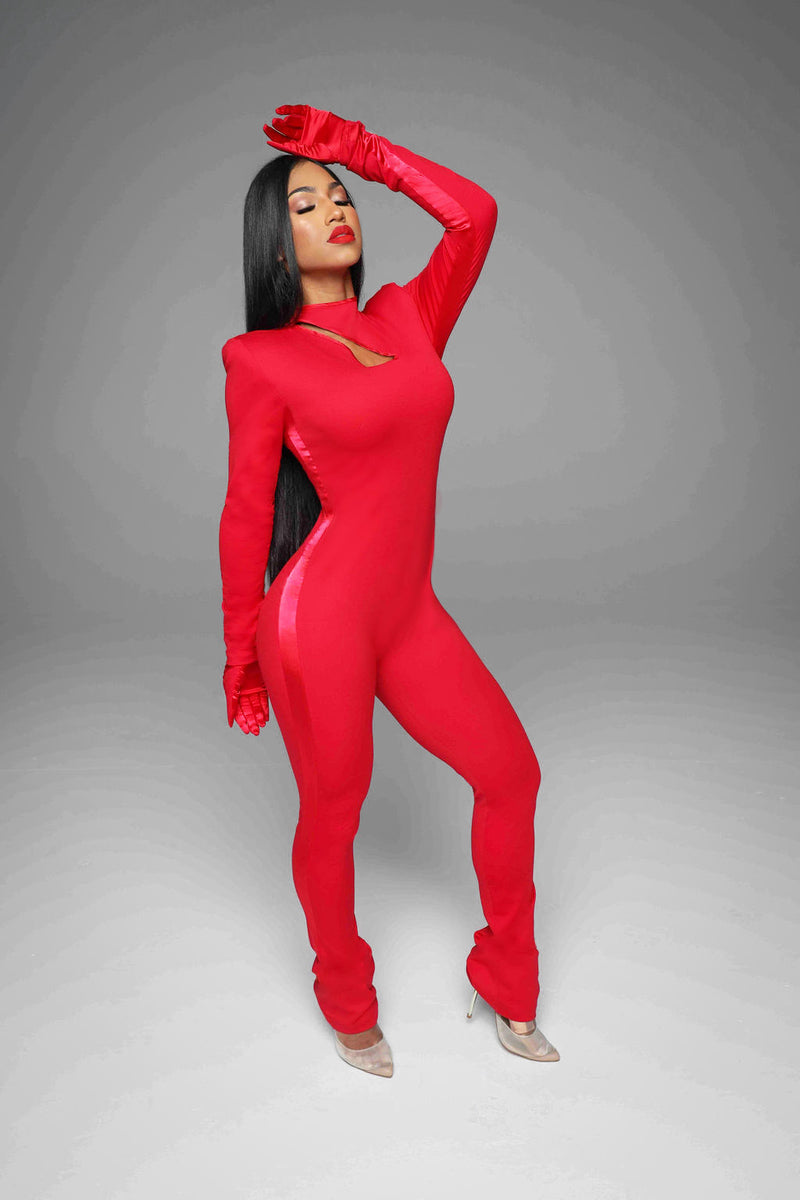 The Flyest Jumpsuit (Red)