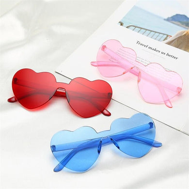 kawaii Heart Sunglasses - KPOP SALES
