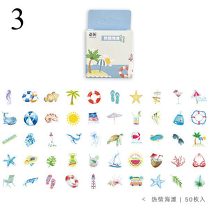 Kawaii Drink Stickers 50Pcs/set - KPOP SALES