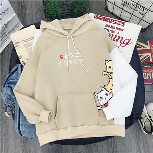 Cute Cat Hoodies - KPOP SALES