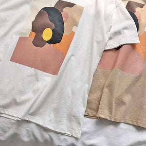 Abstract Face T shirt - KPOP SALES