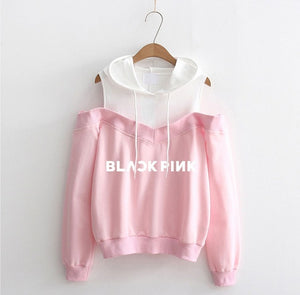 BLACKPINK Off Shoulder Hoodie - KPOP SALES