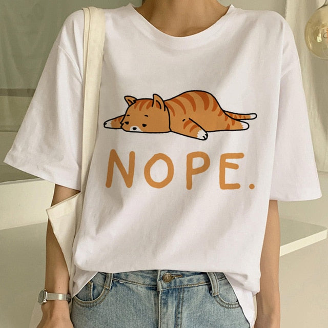 Lazy Cat T Shirt - KPOP SALES