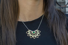 Load image into Gallery viewer, Emerald Divine Necklace - Gold Pendant