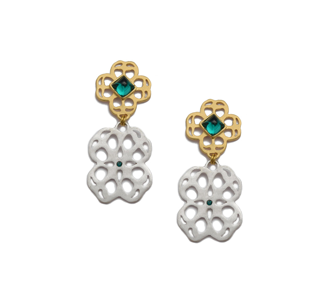 Eleonora Emerald Post Earrings