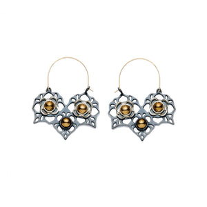Victorian Modern Hoops - Statement Earrings