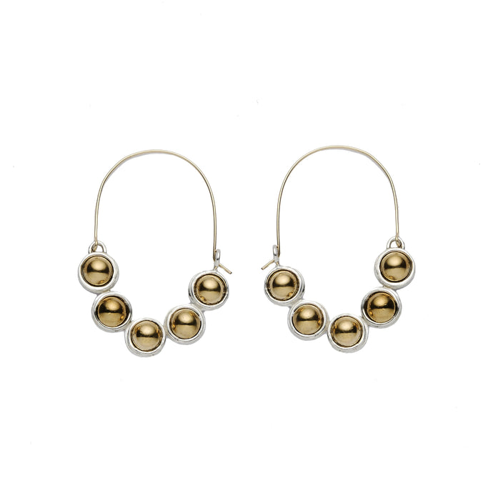 Bubble Hoops - Silver Earrings
