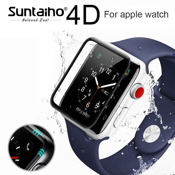 Suntaiho 4D/3D Tempered Screen Protector for Apple Watch