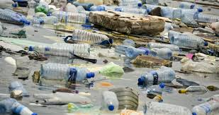 plastic bottle pollute sea and water