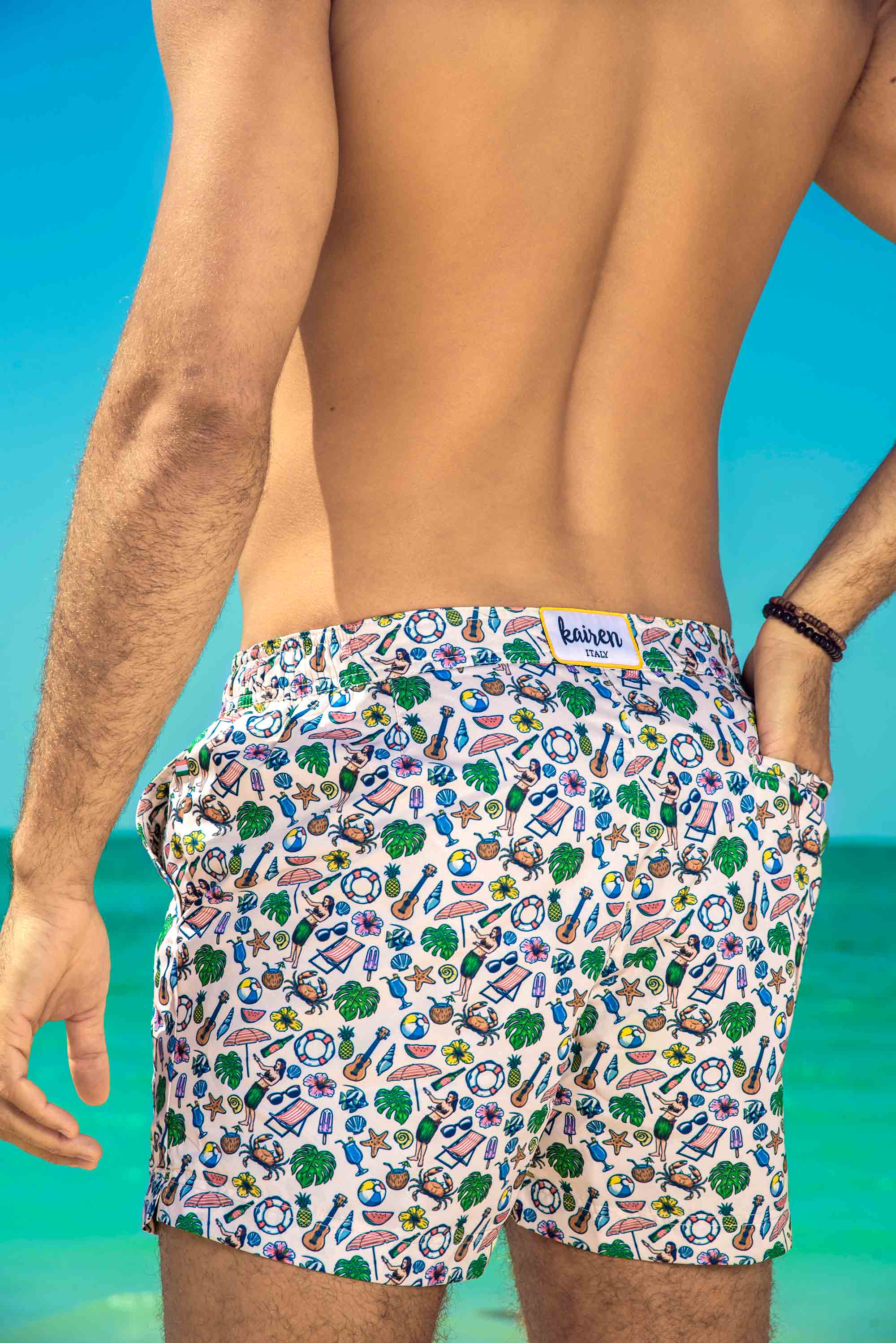 Luxury Swim Trunks - Vintage #Riviera 100% Recycled Plastic - kairenlife