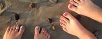 Toe Rings on the beach in San Clemente, CA