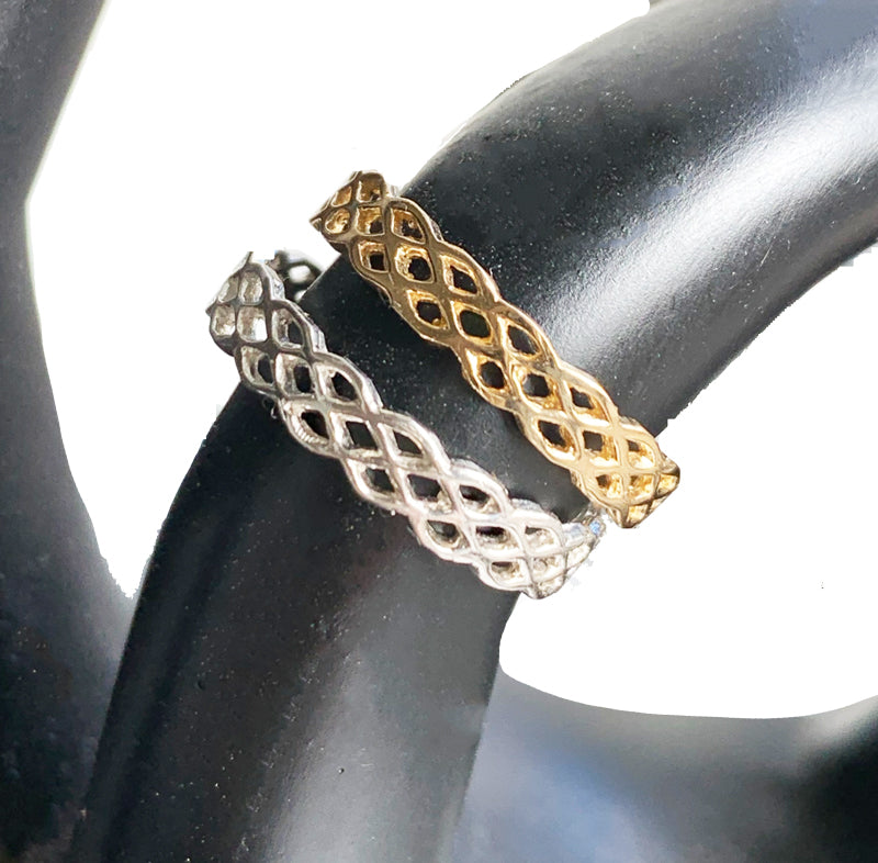 Basket Weave Toe Ring