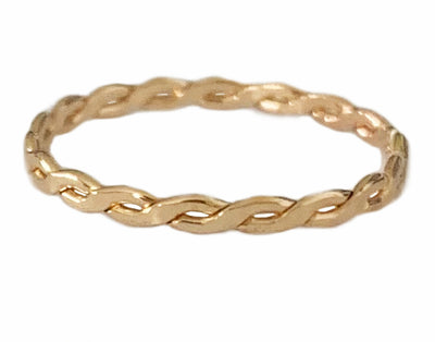 Braid Skinny Toe Ring shown in 14k gold fill