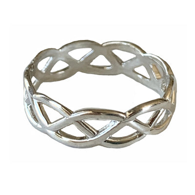 Celtic Weave Sterling Silver Toe Ring