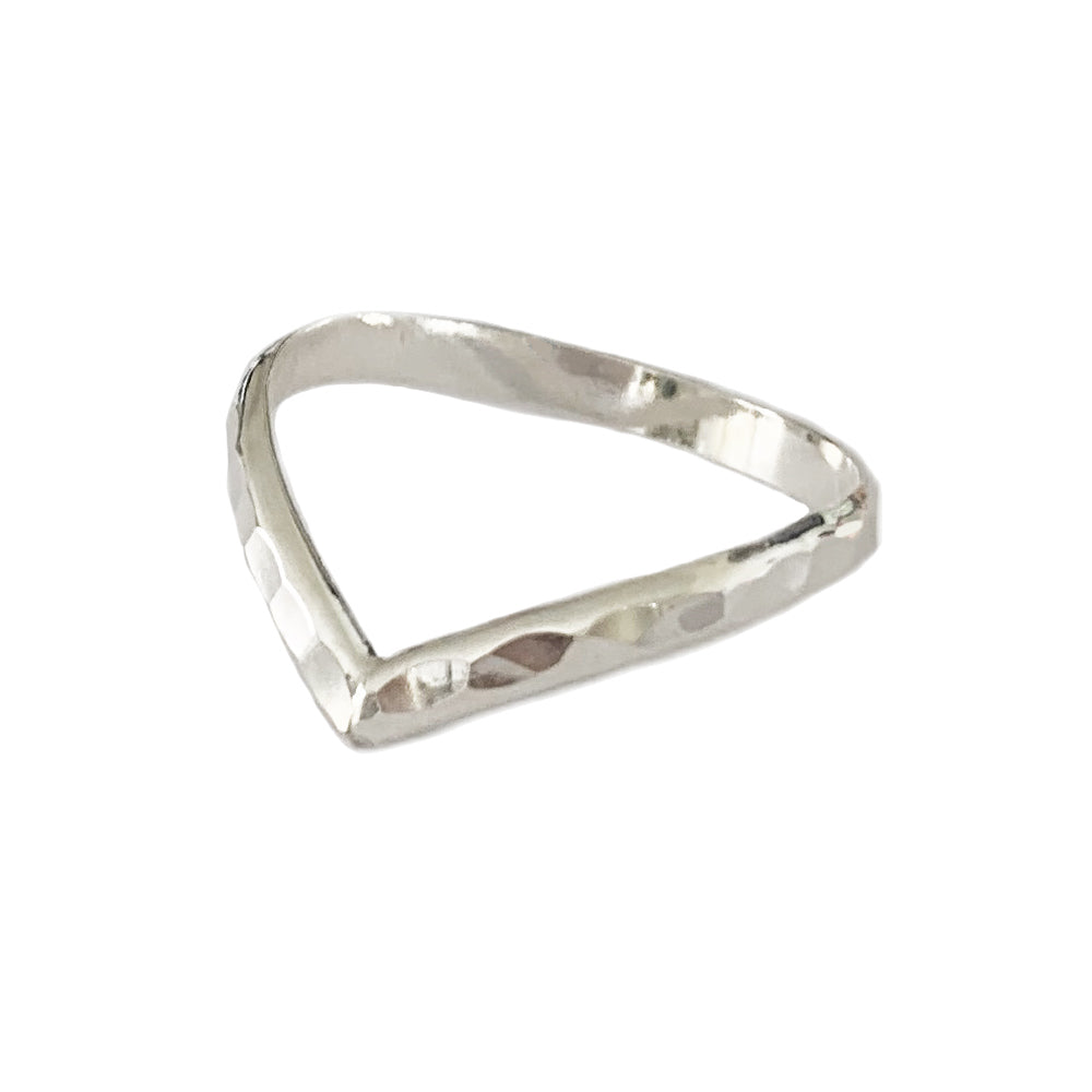 Hammered Chevron Sterling Toe Ring