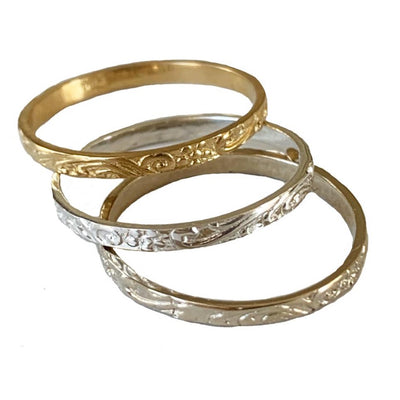 Summer Breeze Toe Ring shown in sterling and gold fill
